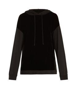 Velvet by Graham & Spencer | Alex Velvet-Panel Hooded Sweatshirt