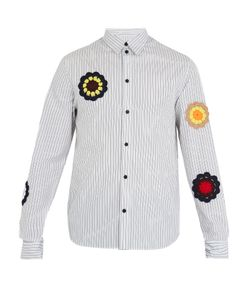 J.W. Anderson | Crochet-Embellished Striped Cotton Shirt