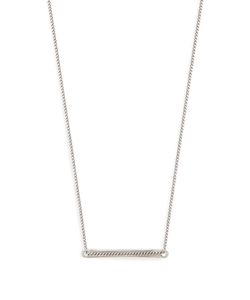 TITLE OF WORK | -Sterling Id-Bar Necklace