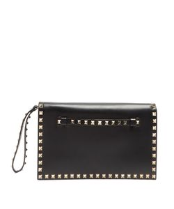 Valentino | Rockstud Leather Foldover Clutch