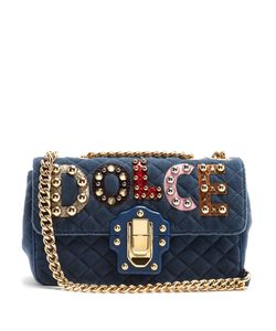 Dolce & Gabbana | Lucia Embellished Velvet Shoulder Bag
