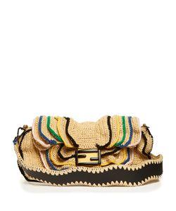 Fendi | Baguette Wave Raffia Cross-Body Bag