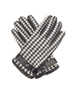 ORLEY | Hounds-Tooth Jacquard And Leather Gloves