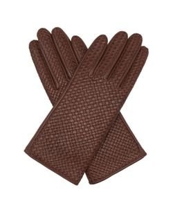 Agnelle | Chloe Woven-Leather Gloves