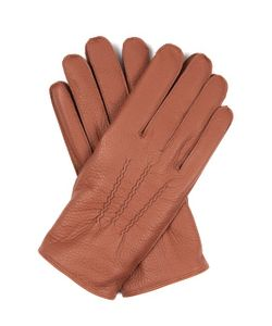 DENTS | Eton Cashmere-Knit Lined Leather Gloves