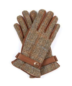 DENTS | Dunmore Harris-Tweed And Leather Gloves
