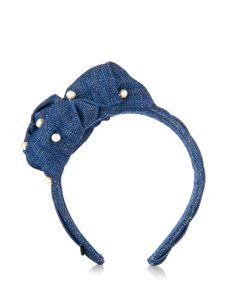 Master Piece | Sea Knot And Pearls Denim Headband