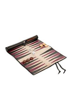 THOMAS LYTE | Bridle-Leather Rolled Backgammon Set