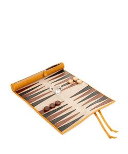 THOMAS LYTE | Grained-Leather Rolled Backgammon Set