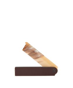 CEDES MILANO | Horn And Leather Pocket Comb