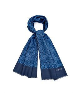 GIEVES & HAWKES | Geometric Print Double-Faced Scarf