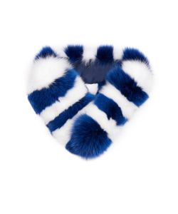 CHARLOTTE SIMONE | Candy Striped Fox-Fur Scarf
