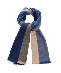 Begg & Co | Hoy Square-Pattern Wool-Blend Scarf