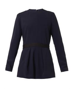 Freda | Pleated-Front Crepe Playsuit