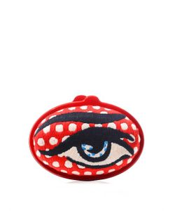 Sarah's Bag | Eggzy Eye Embroidered Clutch