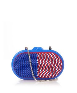 Sarah's Bag | Tri-Colour Bead-Embellished Clutch