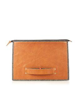 HARD GRAFT | Grab Medium Felt And Leather Laptop Folio Case