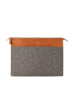 HARD GRAFT | Classic Medium Felt And Leather Laptop Folio Case