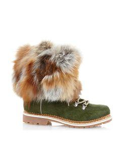 MONTELLIANA | Fur-Trim Calf-Hair Après-Ski Boots