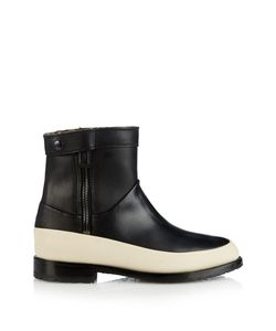 Newbark | Riley Shearling-Lined Leather Ankle Boots