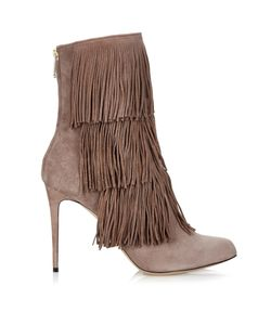 Paul Andrew | Taos Layered-Fringe Ankle Boots