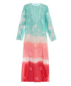 Juliet Dunn | Embroidered Tie-Dye Silk Kaftan