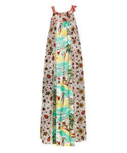 EASTON PEARSON TAKE AWAY | Vara Contrast-Print Maxi Dress