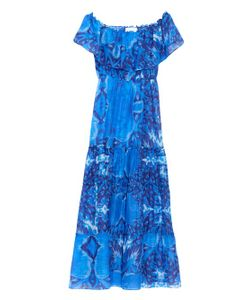 Athena Procopiou | Cosidre Royal Blue-Print Dress