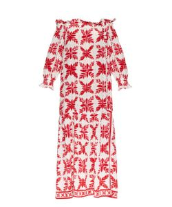 EASTON PEARSON TAKE AWAY | Island Frond-Print Silk Dress