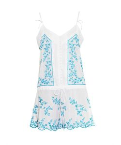 Juliet Dunn | Embroidered Cotton Mini Dress