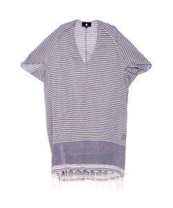 SU | Tipam V-Neck Tasseled Striped Kaftan