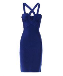Herve' L. Leroux   Mai Cross-Neck Dress