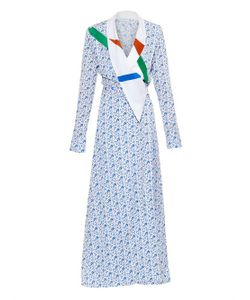 TRAGER DELANEY | Lily Printed Silk Wrap Dress