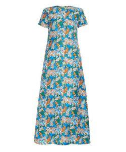 LA DOUBLEJ EDITIONS | Flora Marina Silk Maxi Dress