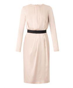 Freda | Draped-Front Satin Dress