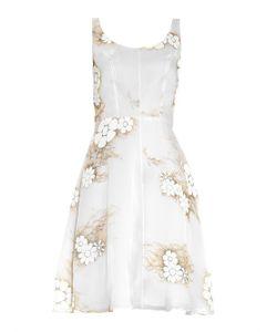 Honor | Floral-Print Silk-Organza Dress