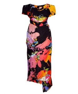 Vivienne Westwood Gold Label | Floral-Print Draped Dress