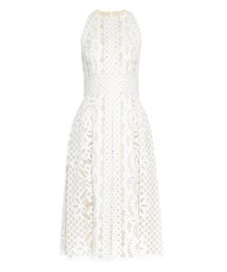 Lover   Poppy Japanese-Lace Midi Dress