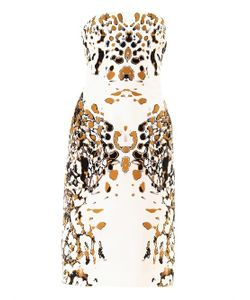 Josh Goot | Leopard Vector Strapless Dress