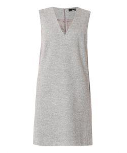 Freda | V-Neck Silk And Wool Tunic Dress