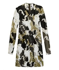 DANIELLE ROMERIL | Camouflage-Effect Appliqué And Lace Dress