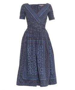 Preen Line   Saira Open-Back Printed Denim Dress