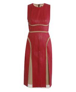 Marios Schwab | Leather Pleat Dress