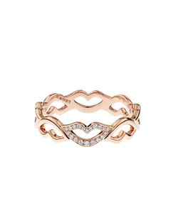 RAPHAELE CANOT   Keep Smiling Diamond Pink-Gold Ring
