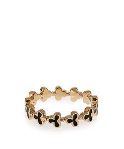 ALISON LOU | Enamel Yellow-Gold Club Ring