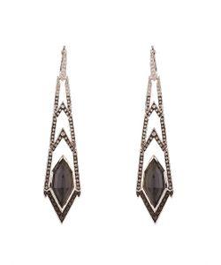 Stephen Webster | Diamond Quartz White-Gold Crystal Haze Earrings