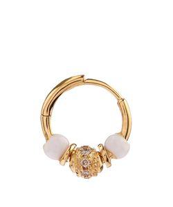 ELISE DRAY | Diamond Agate Yellow Gold Mini Rock Earring