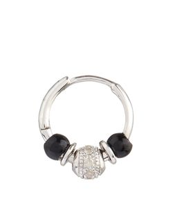 ELISE DRAY | Diamond Onyx White-Gold Mini Rock Earring