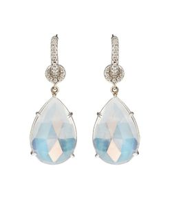 NSR NINA RUNSDORF | Moonstone White-Gold Earrings