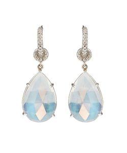 NSR NINA RUNSDORF | Moonstone White-Gold Earrings